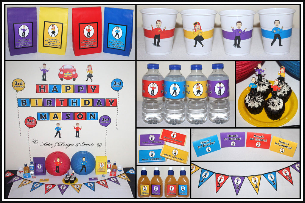 The Wiggles Personalised Party Decorations