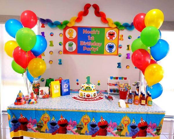 Baby Sesame Street Birthday Party