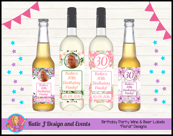 Personalised Custom Wine & Beer Bottle Labels