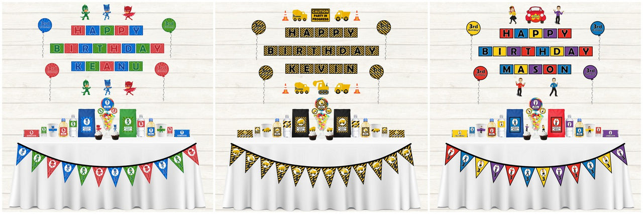 Personalised Kids Party Decorations
