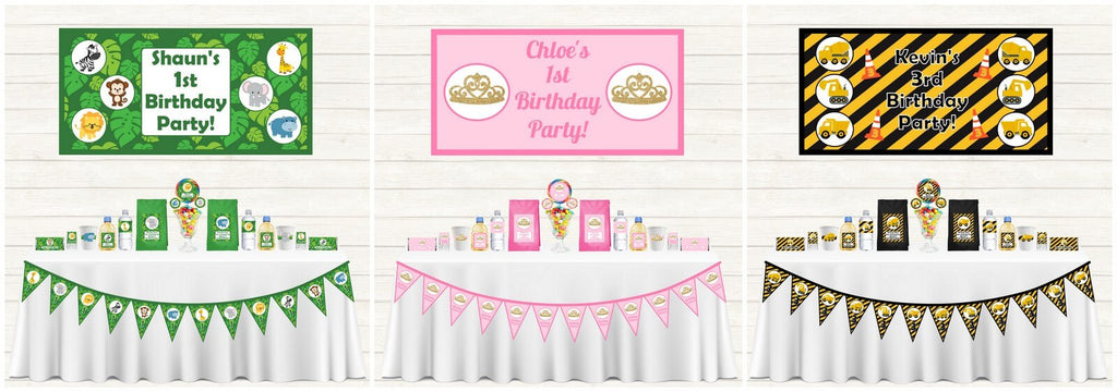 Personalised Kids Party Decorations and Supplies