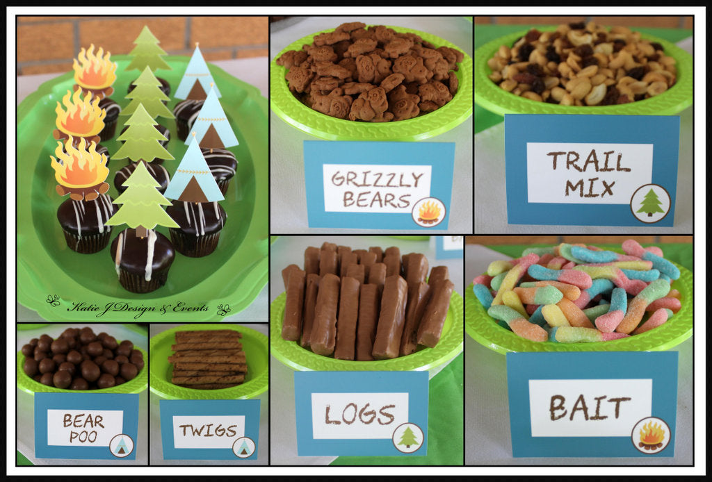 Camping Wild One Party Food Ideas Decorations