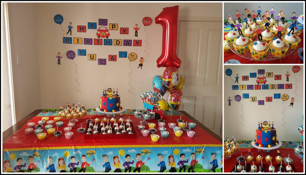 The Wiggles Party Photo Set Up cake table