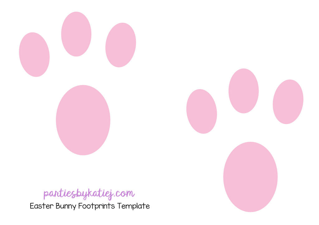 image about Printable Easter Bunny Footprints identify Pleasurable Spouse and children EASTER TRADITIONS by way of Katie J