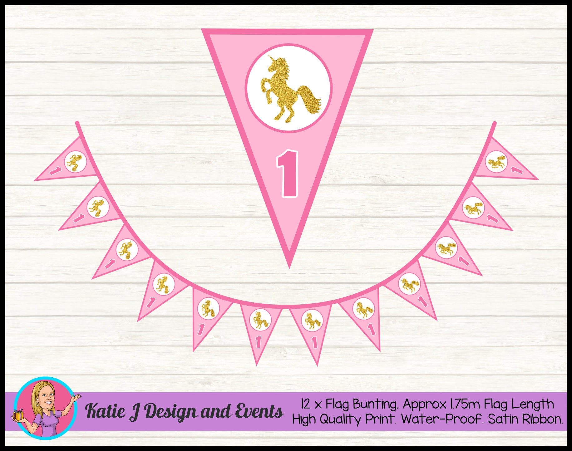 Personalised Custom Party Flag Bunting Pennant Banners