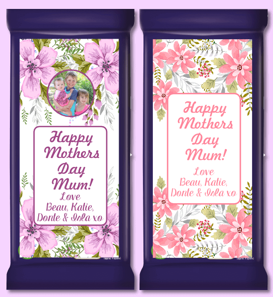 Personalised Mothers Day Gift Chocolate