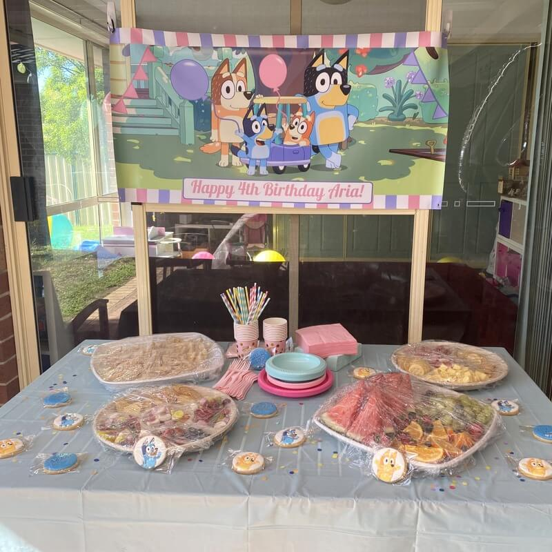 Girls Bluey Birthday Party Banner