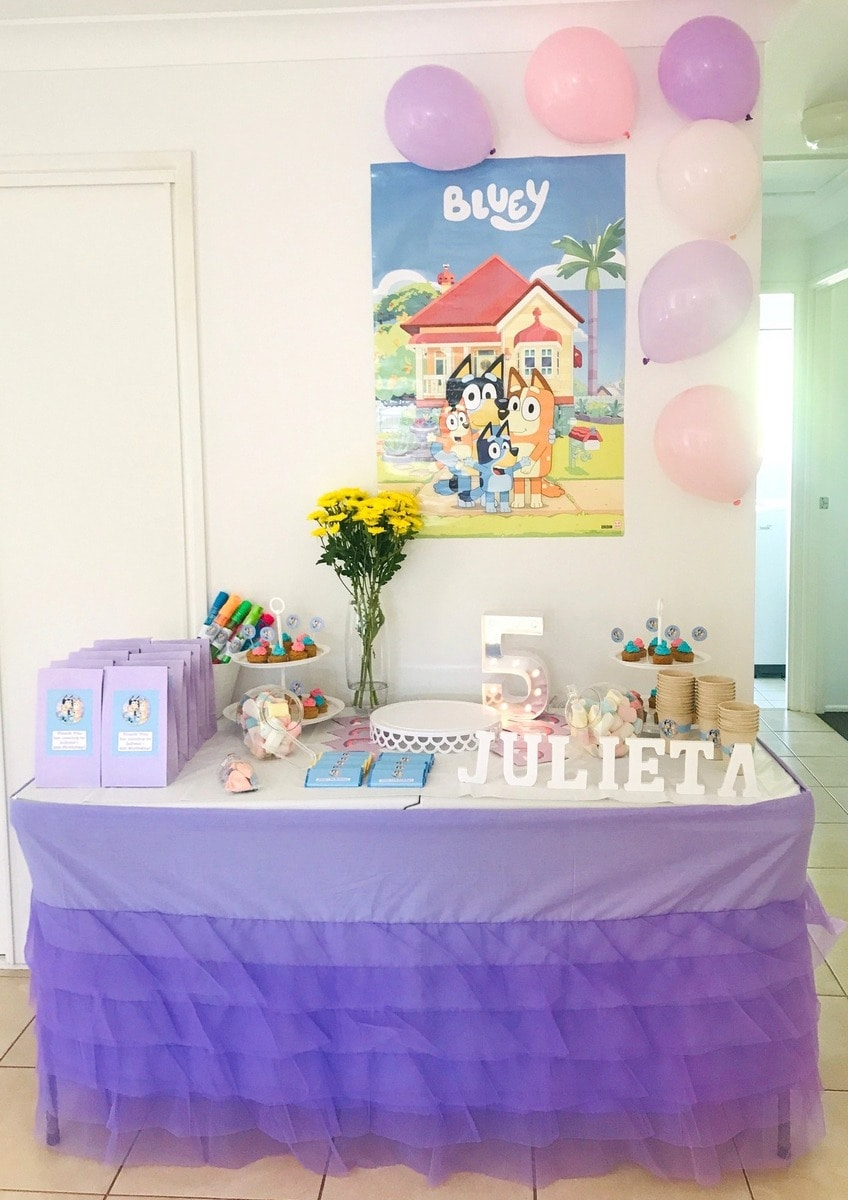 Girls Bluey Birthday Party Photos Decorations