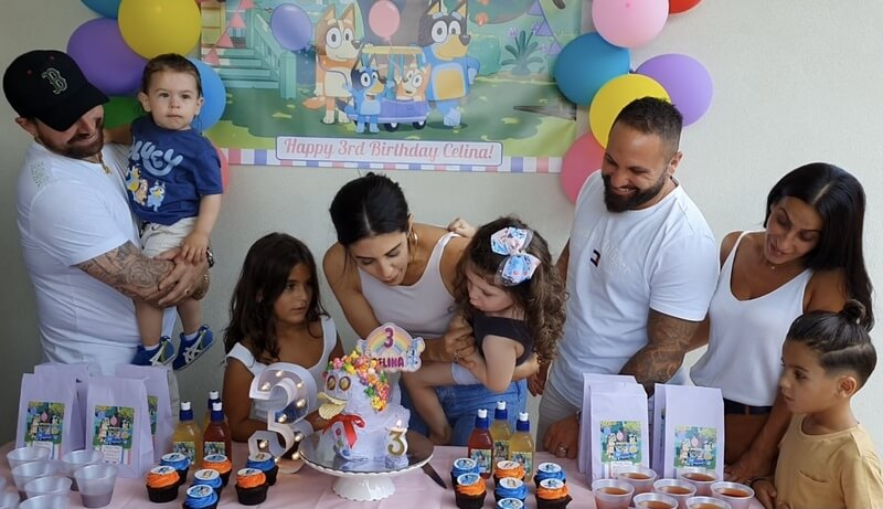 Girls Bluey Birthday Party Table
