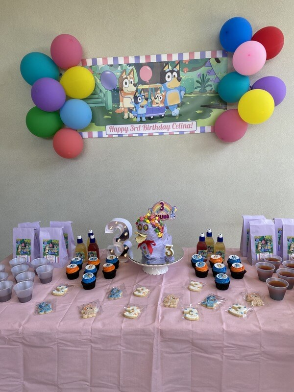 Girls Bluey Cake Table