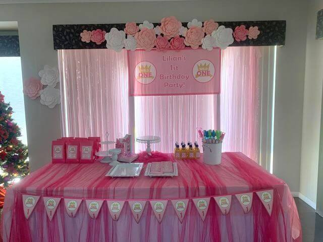 Girls Pink & Gold Wild One Birthday Party