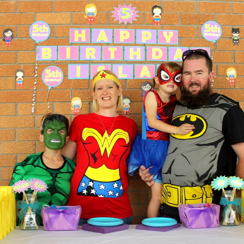 Katie J Design and Events Family Photo Superhero Party