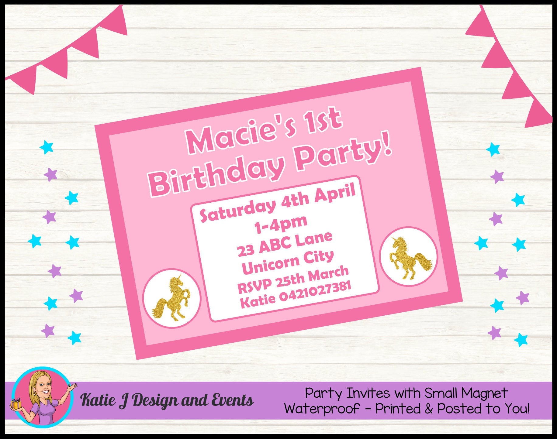 Personalised Custom Party Invites Invitations