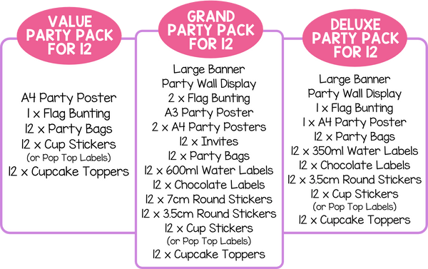 Kids Party Pack for 12
