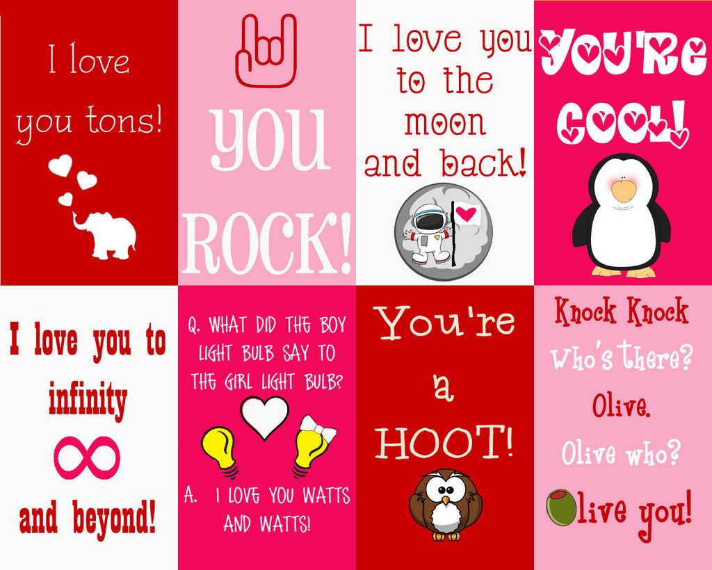 Valentines Day Lunch Box Notes Free Printables Kids