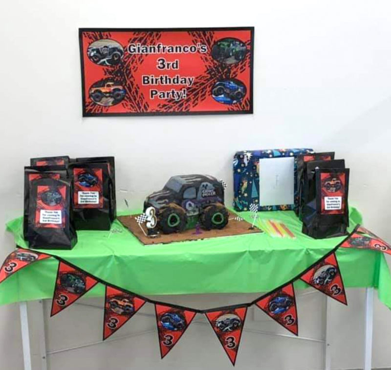 Monster Jam Trucks Birthday Party Photos Decorations