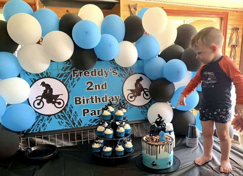 Boys Motorbike Birthday Party Photos Decorations Cake Smash