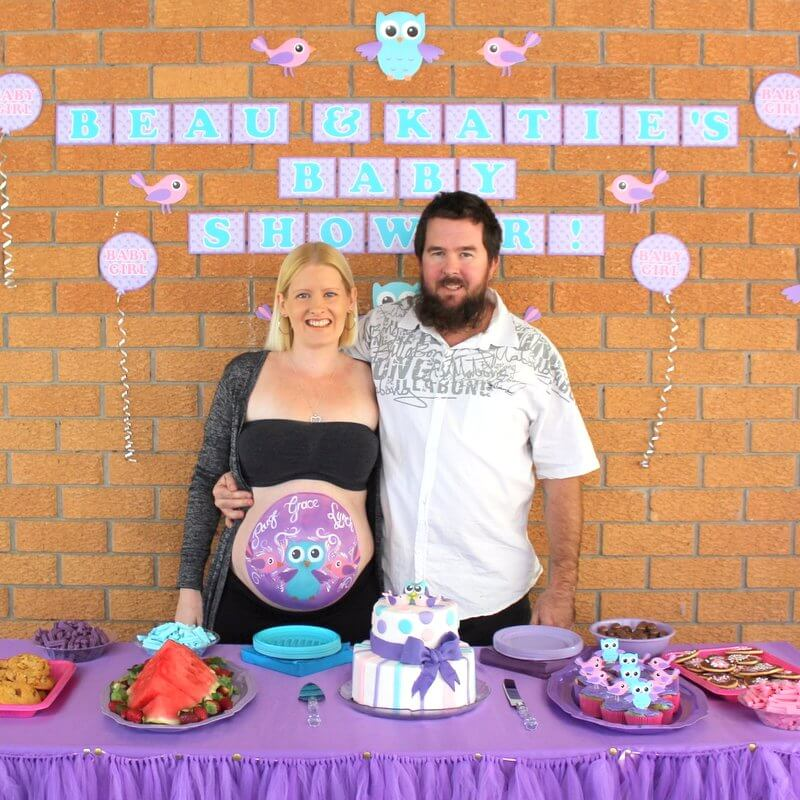 Katie J Design and Events Family Photo Owl Baby Shower