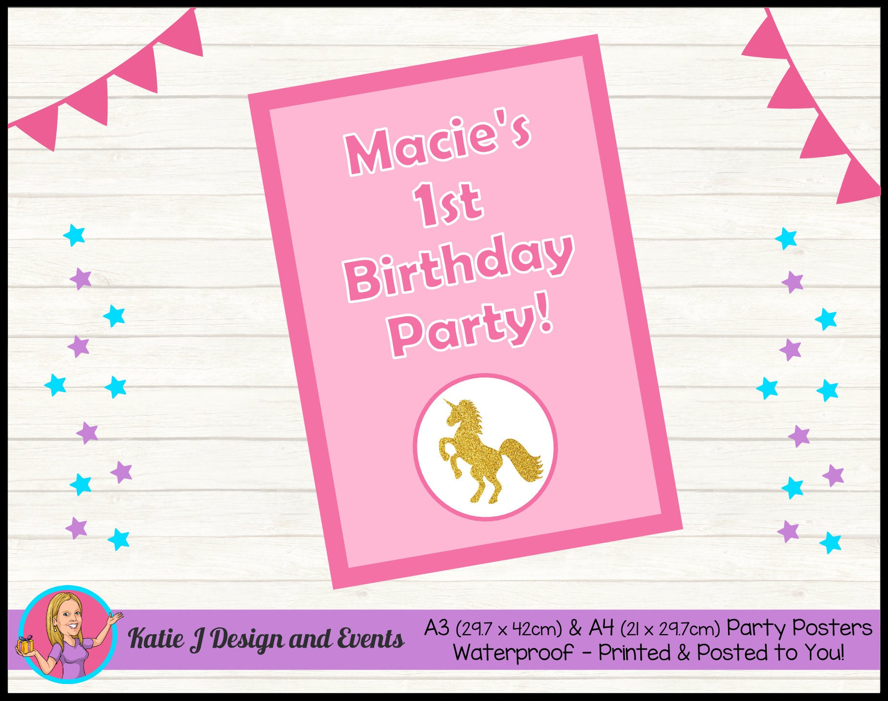 Personalised Custom A3 & A4 Party Posters