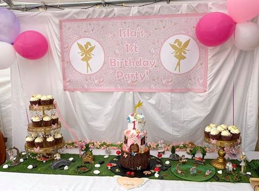 Pink & Gold Fairy Birthday Party Photos Decorations