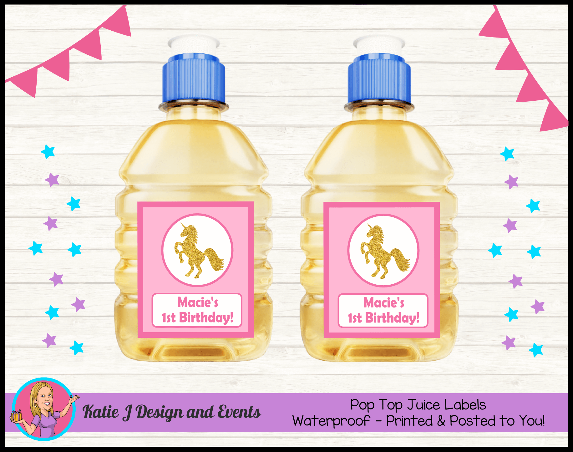 Personalised Custom Pop Top Juice Labels