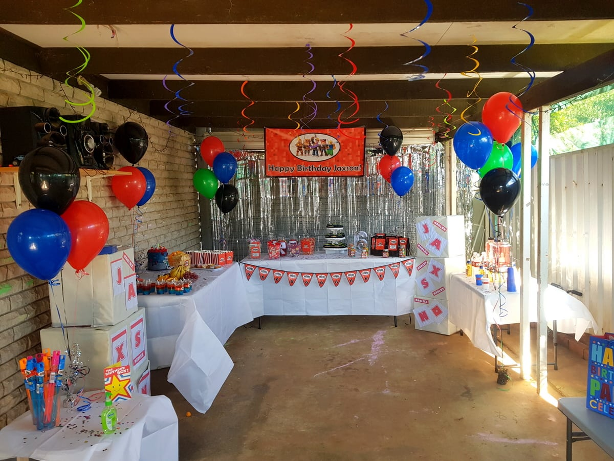 Roblox Birthday Party Photos Decorations