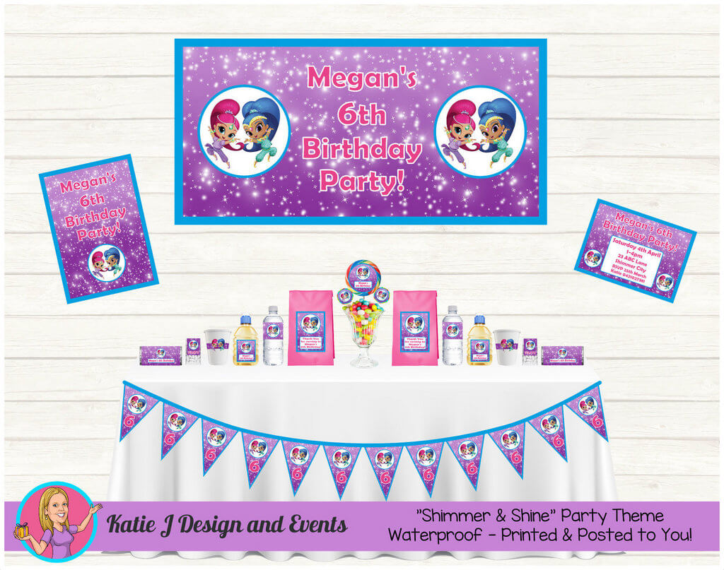 Shimmer & Shine Party Decorations