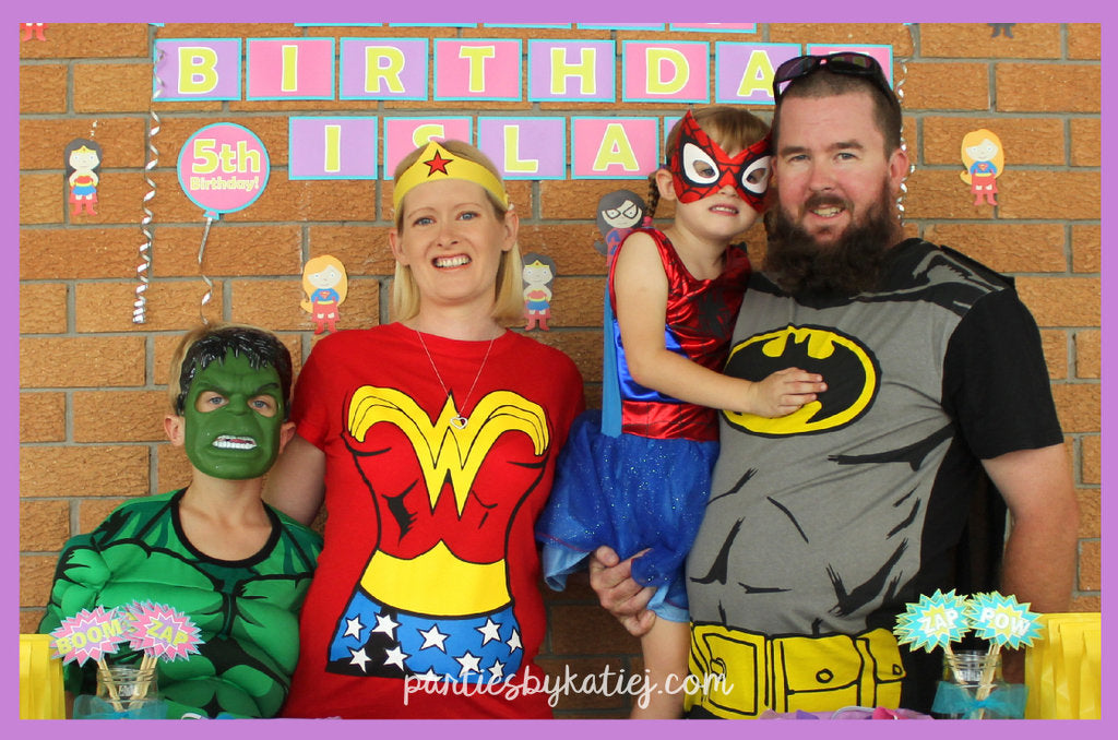 Girls Superheroes Party Decorations Photos Ideas Inspirations Cake Food
