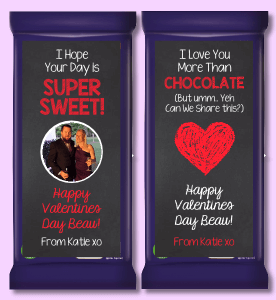 Valentines Day Chocolate Labels