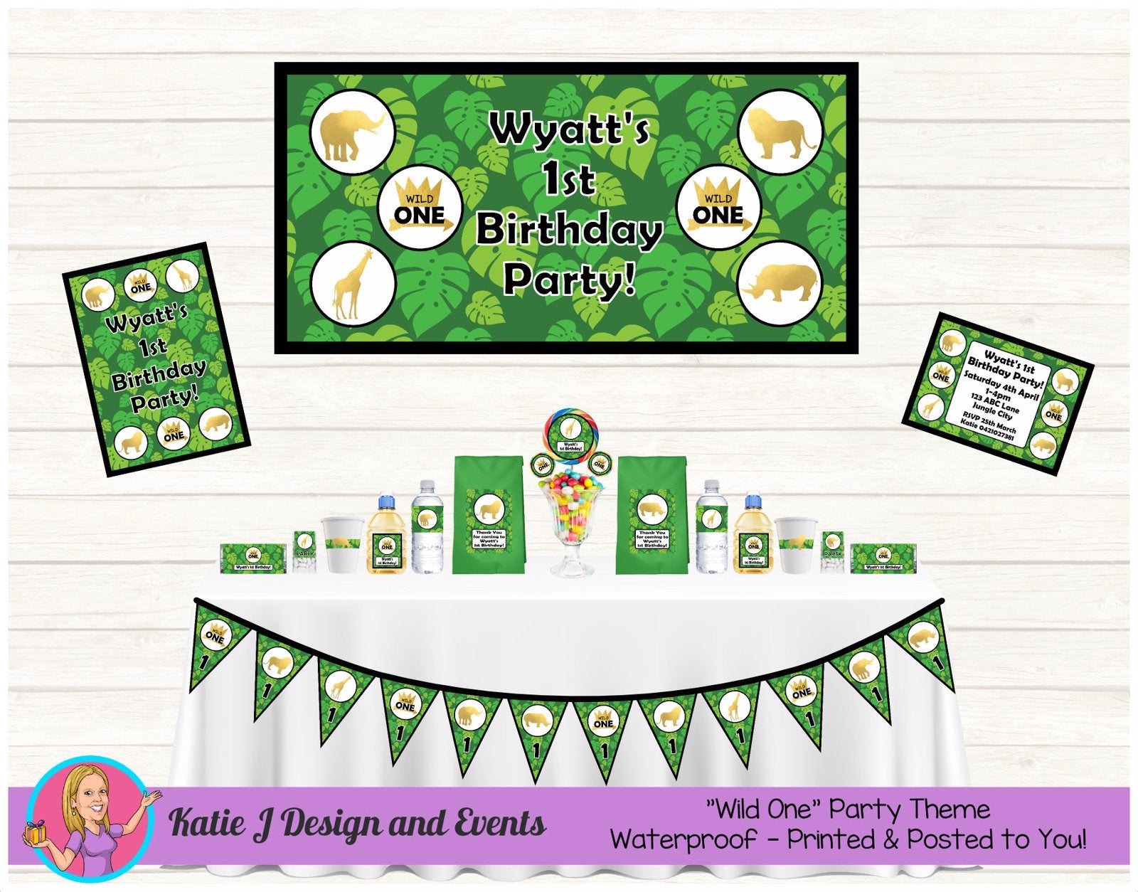 Jungle Animals Wild One Party Decorations Supplies Ideas