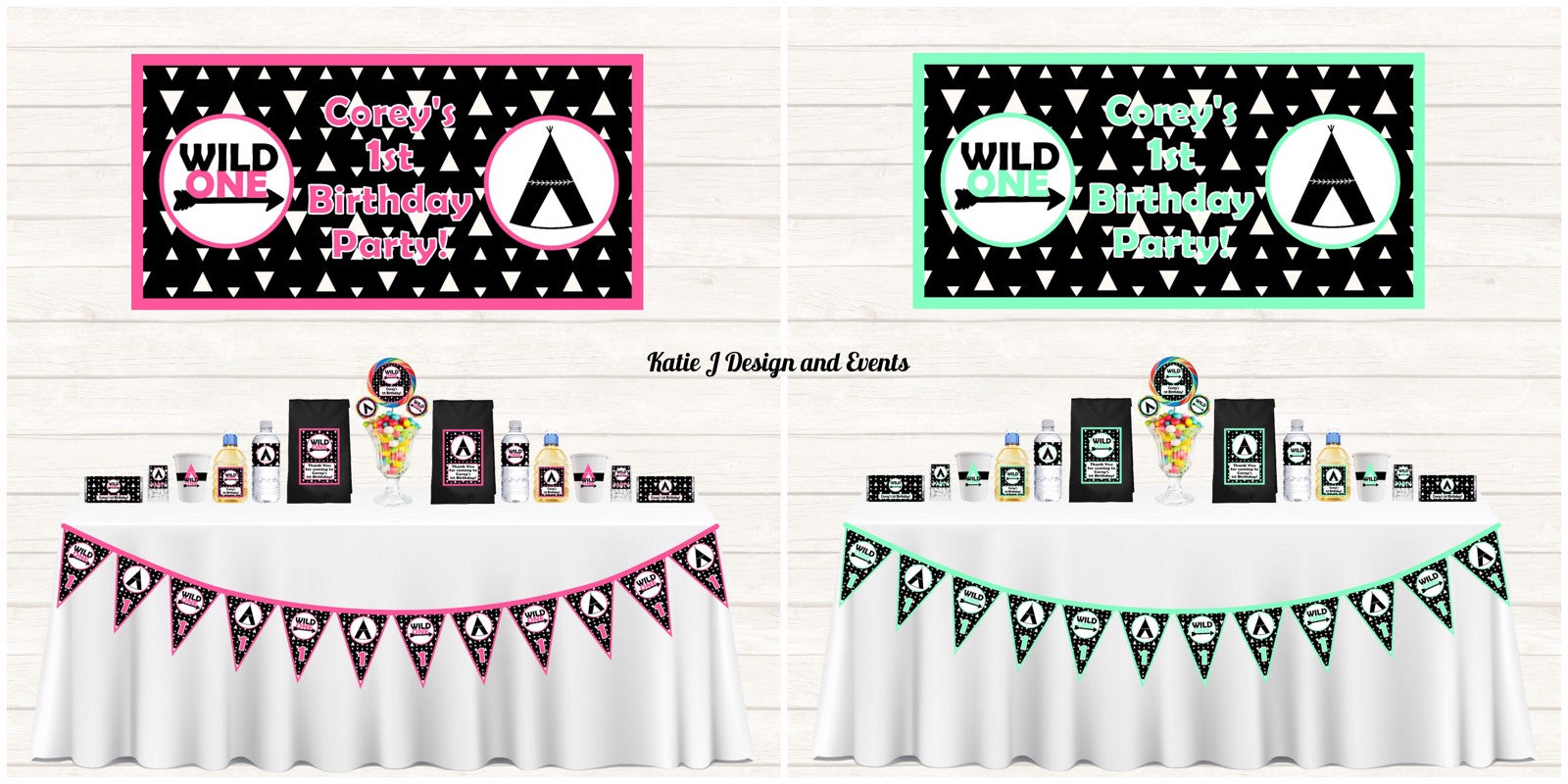 Monochrome Wild One Party Decorations Supplies Ideas