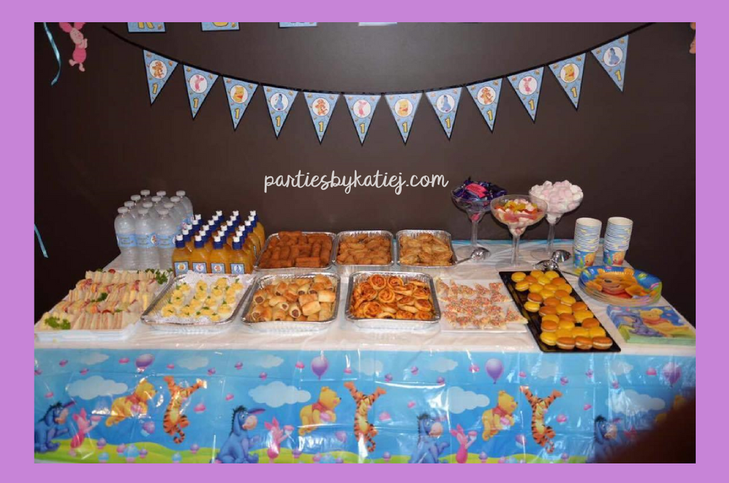 Winnie the Pooh 1st Birthday Party Photos Ideas Table Setup Decorations