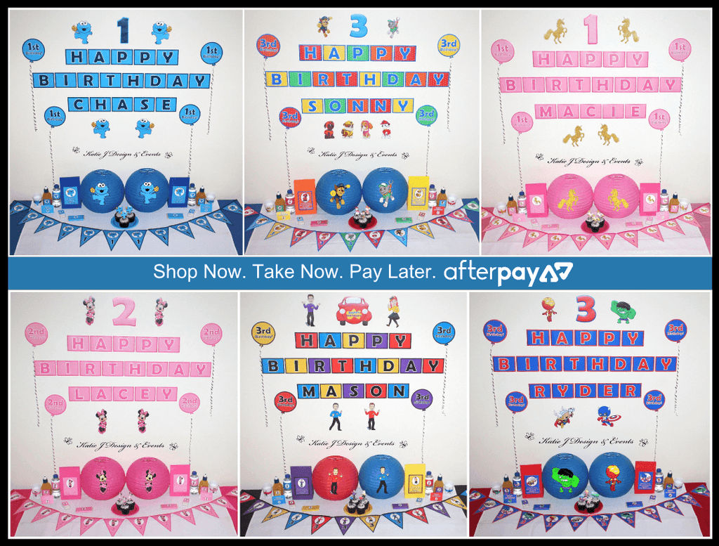 Afterpay Personalised Party Decorations Supplies