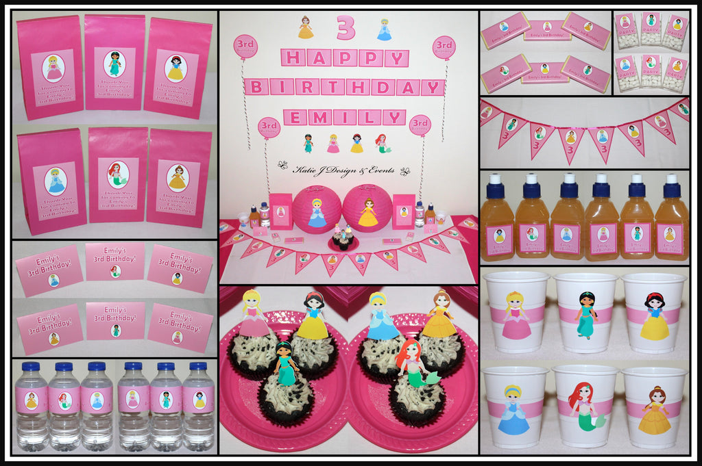 Personalised Disney Princess Party Decorations and Supplies