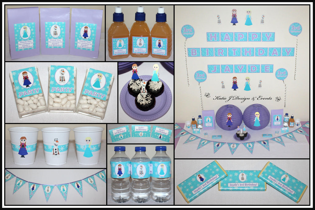 Personalised Frozen Party Decorations Supplies