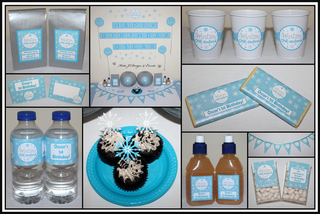 Boys Winter Onederland Party Decorations Supplies