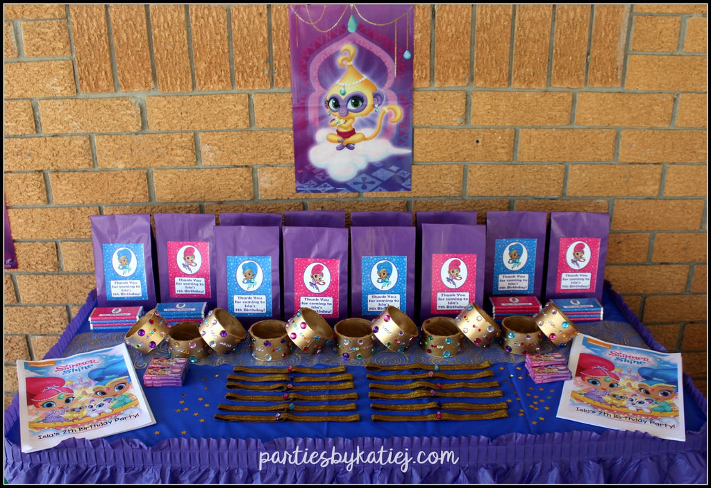 Shimmer and Shine Birthday Party Bags Loot Bags Ideas