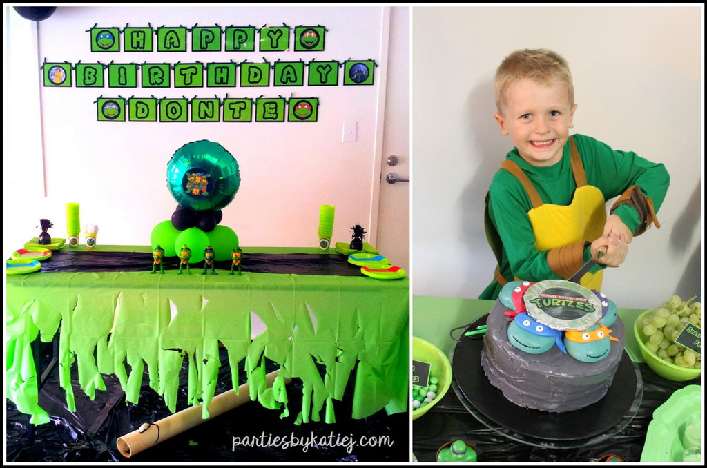 Ninja Turtles Birthday Cake Table DIY