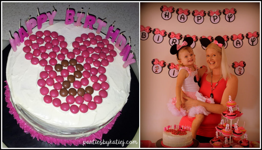 Minnie Mouse DIY Easy Birthday Cake