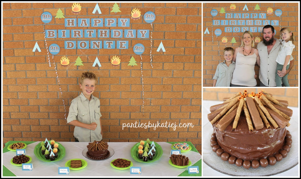 Camping Birthday Cake Photo DIY