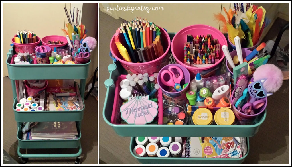 Organise Kids Art and Craft Supplies Photo Art Cart