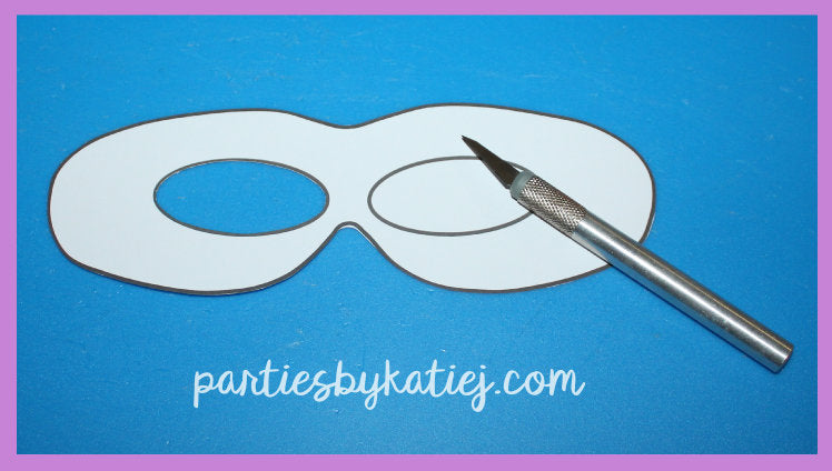 Kids Super Hero Masks Party Printable Template