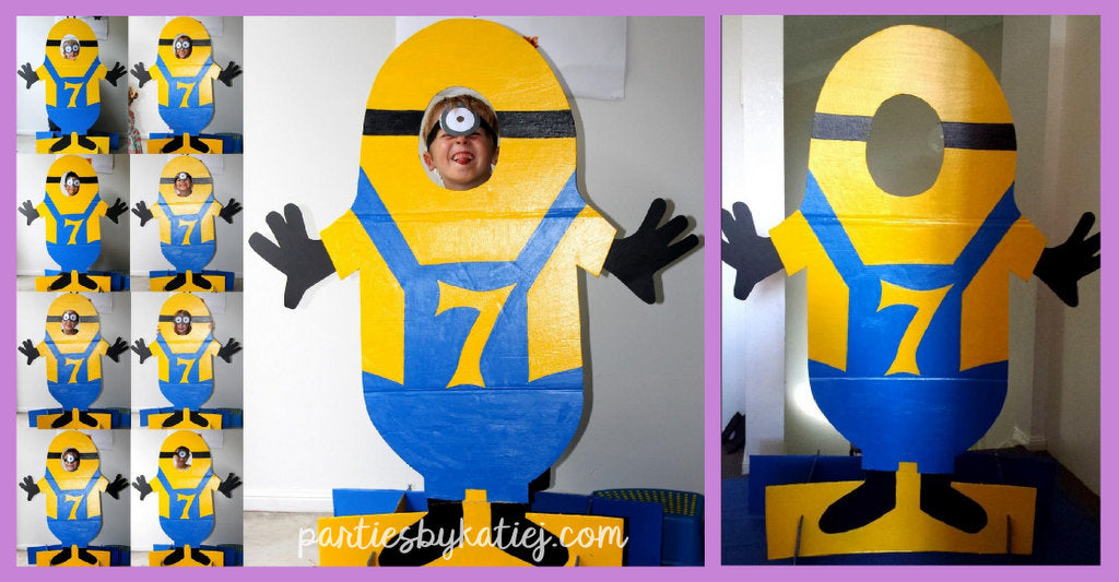 Minions Cardboard Cutout Kids Party Photo Prop