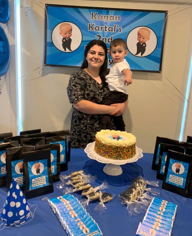 Boss Baby Birthday Party Cake Table