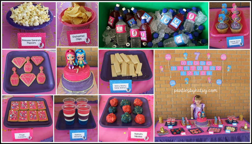 Shimmer And Shine Party Theme By Katie J