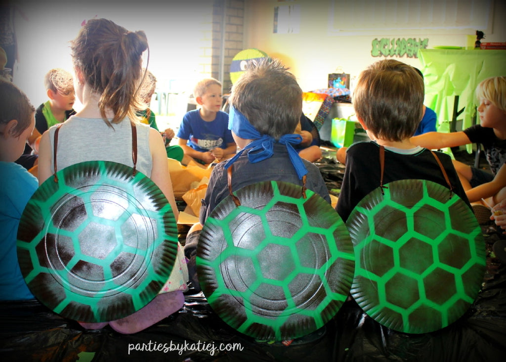 Ninja Turtles Shells Birthday Party DIY
