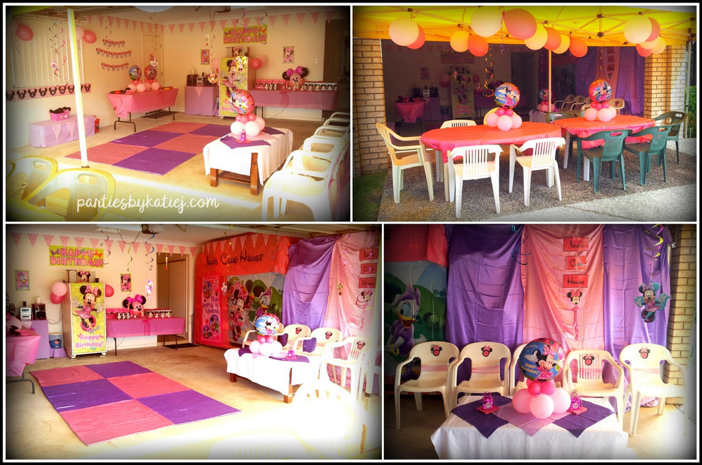 Minnie Mouse Birthday Party Area Setup Decorations Inspo
