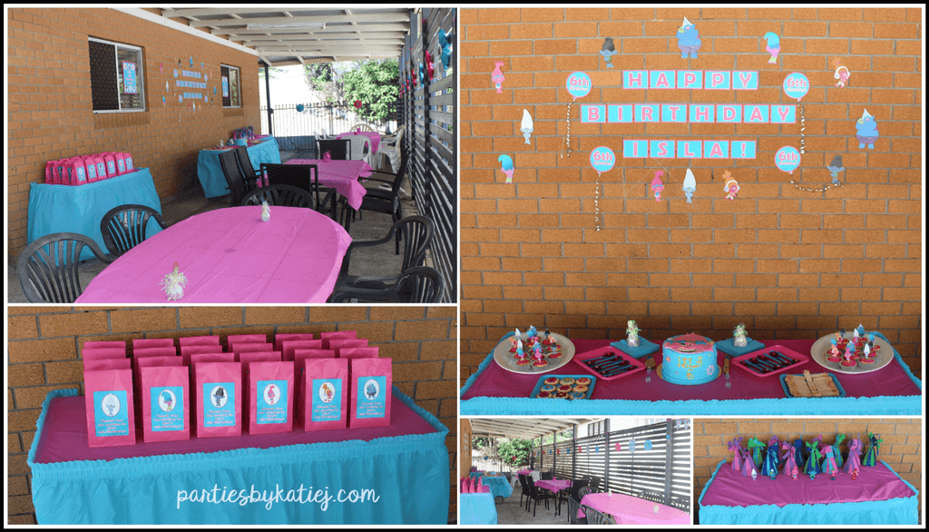 Trolls Party Area Setup Photos Ideas