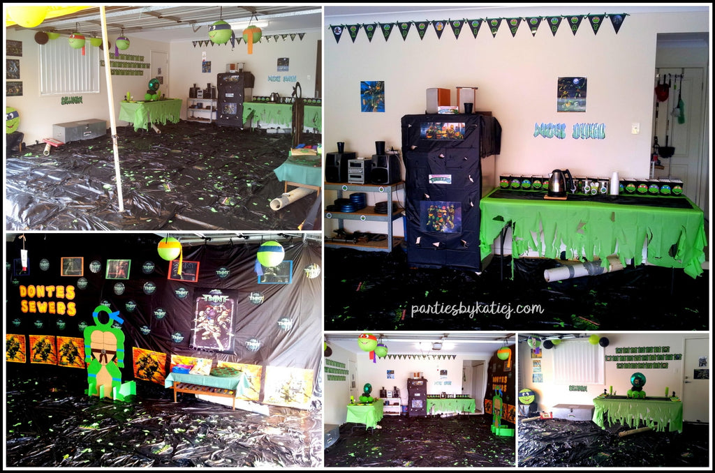 Ninja Turtles Party Area Setup Ideas Decorations