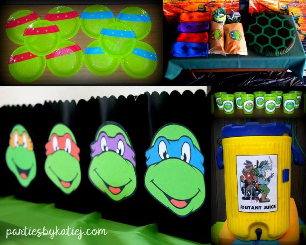Ninja Turtles Party Decorations Ideas DIY